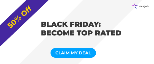 Banner promoting Black Friday sale to get more reviews.