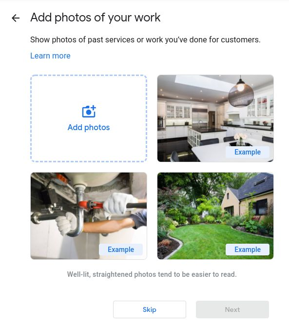 How to set up Google My Business- upload your business photos.