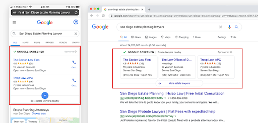 Get more Google reviews for your law firm to start using Google Local Services Ads.