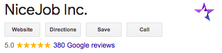 NiceJob thinks customer reviews are important so we try to get as many as possible ourselves.