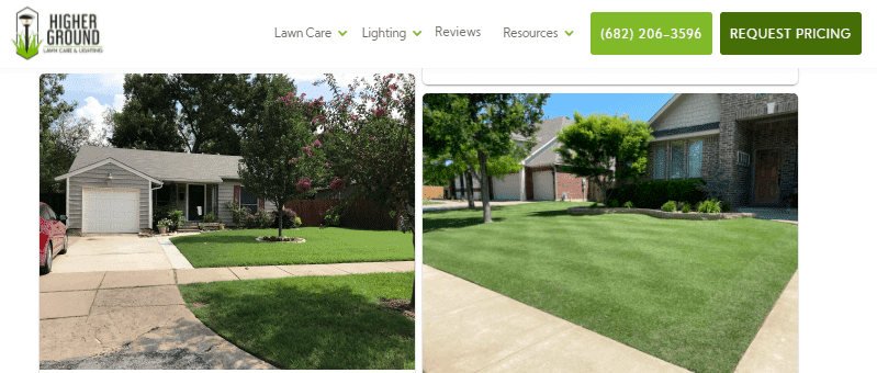 Landscaping website with compelling photos as a marketing idea..