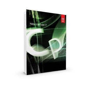 Adobe Captivate logo on a box