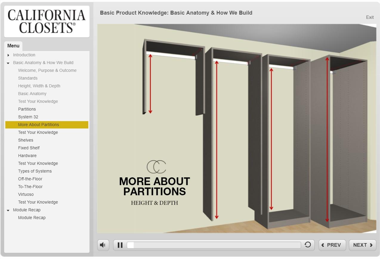 Course Demo - California Closets - SmarterU LMS - Online Training Software