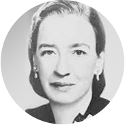 A black and white portrait of a young Grace Hopper.