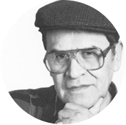 Black and white portrait of Jaime Escalante