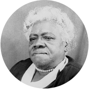 Black and white portrait of an elderly Mary McLeod Bethune