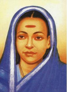 Painted portrait of Savitribai Phule;