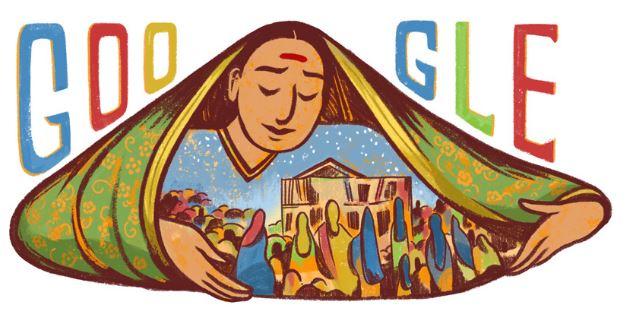 Savitribai Phule Google Doodle - SmarterU LMS - Blended Learning