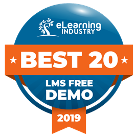 Award for Best 20 LMS Free Demo 2019 - eLearning Industry