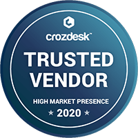 Crozdesk's Trusted Vendor Badge 2020