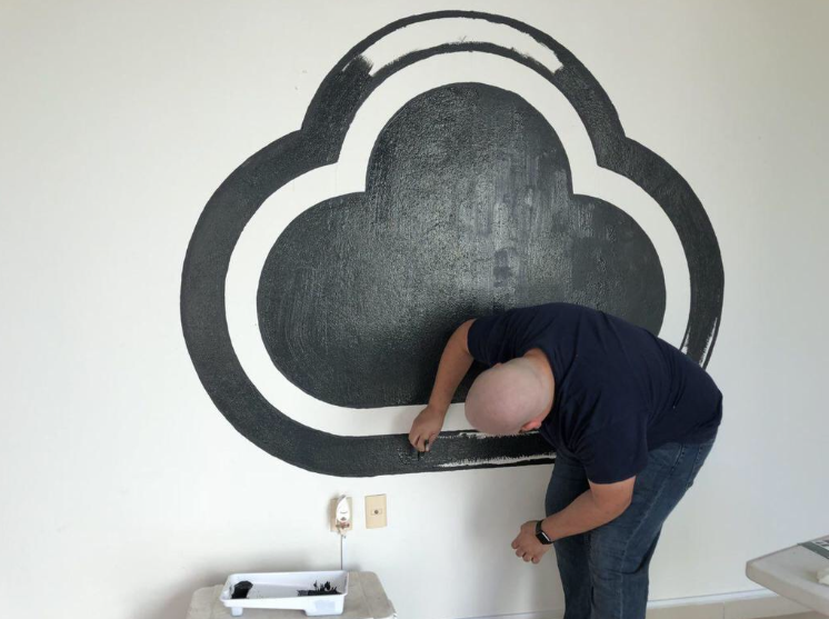 Painting of the CloudApp logo