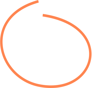 Orange drawn circle