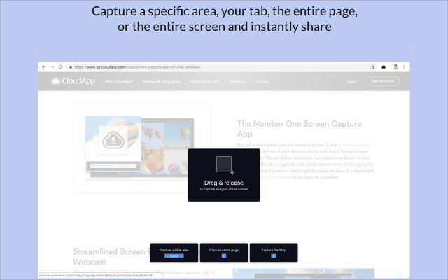 Welcome to CloudApp for Chrome Screen Recorder, Screenshots