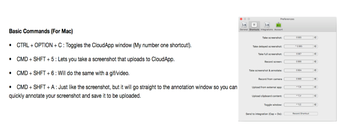 cloudapp screenshot keyboard