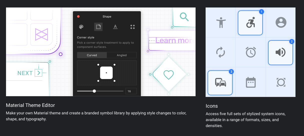 material icons sketch
