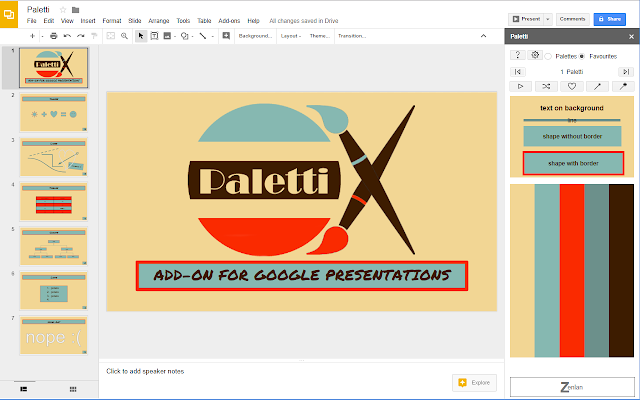 paletti google slides add-on