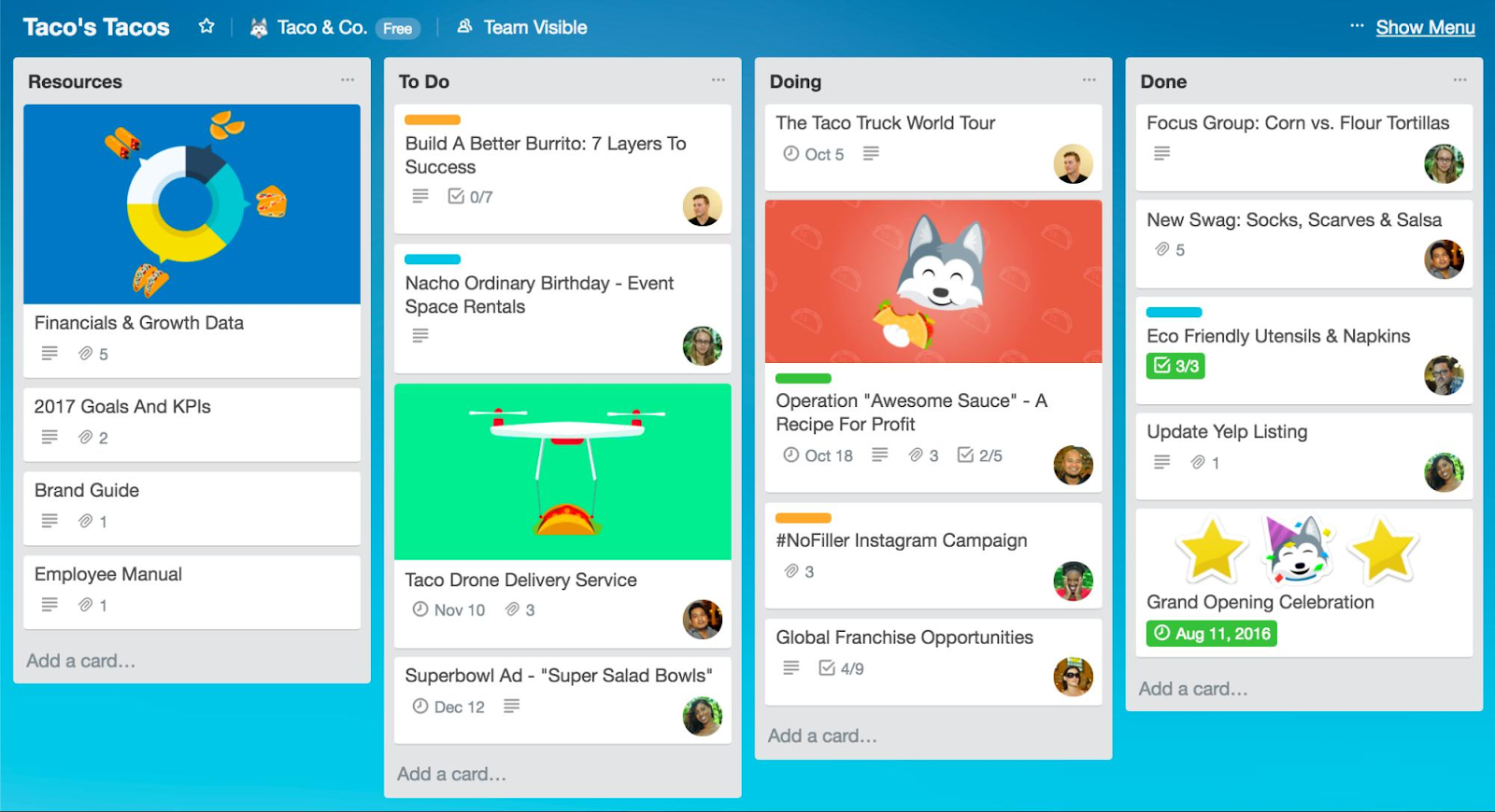 Trello project management app