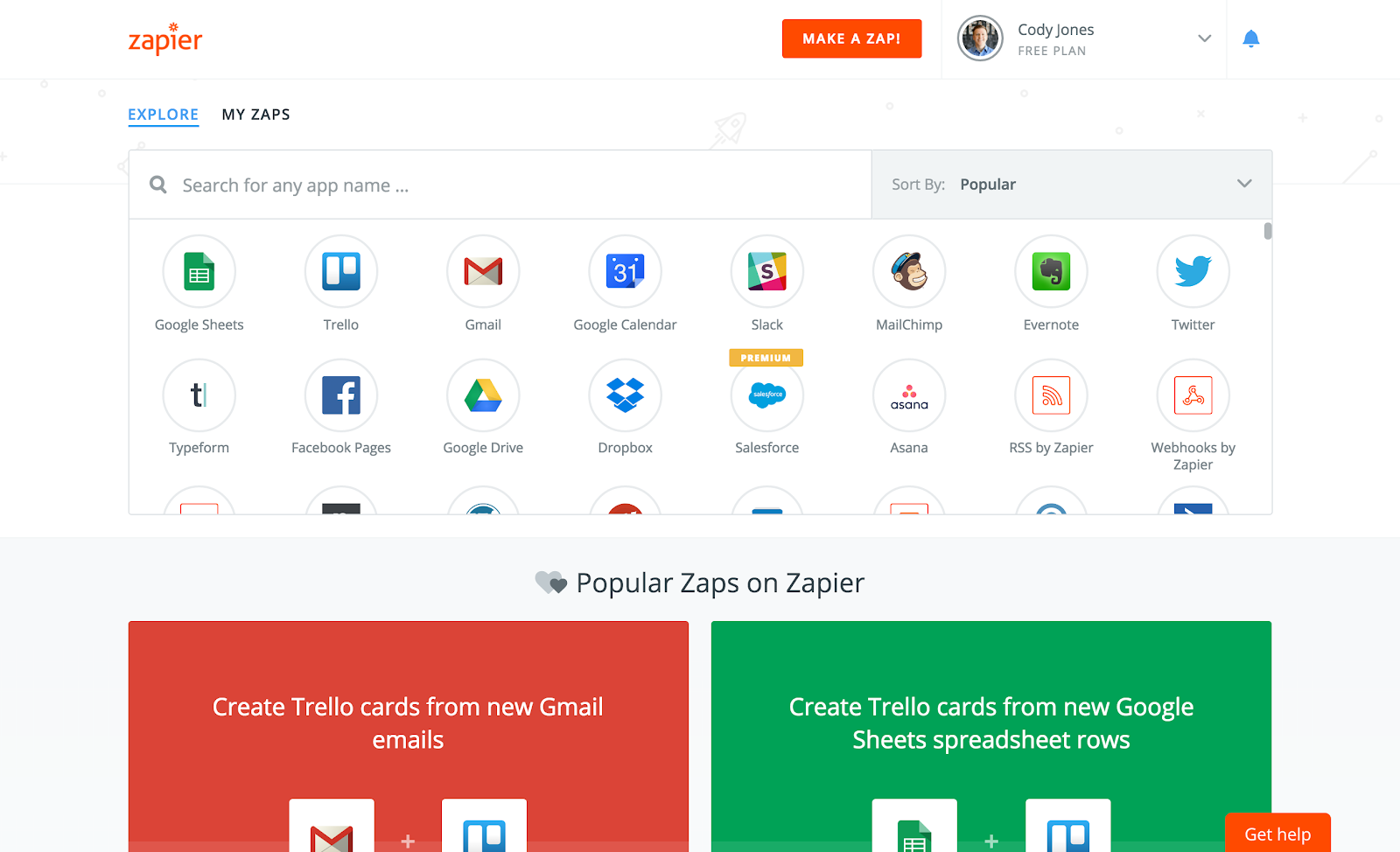 Zapier productivity app