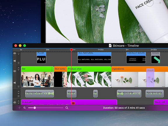 Screenshot of the ScreenFlow video recording software.