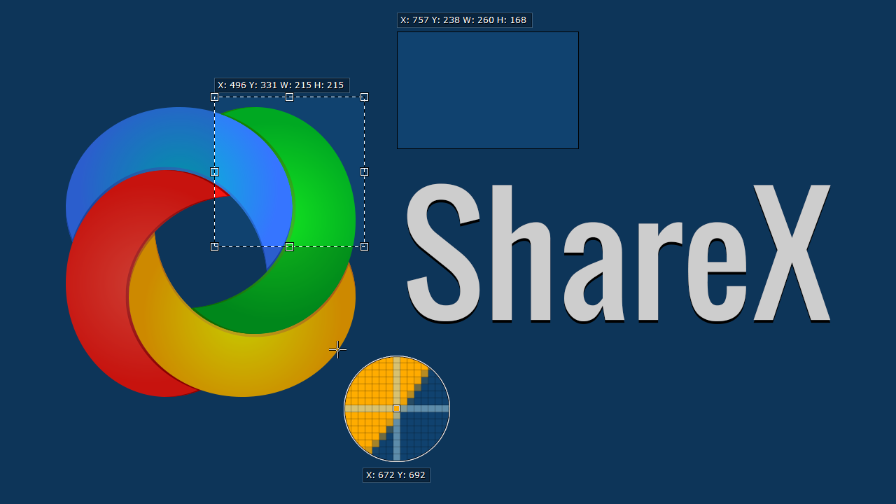 Logo for the ShareX video recording software.