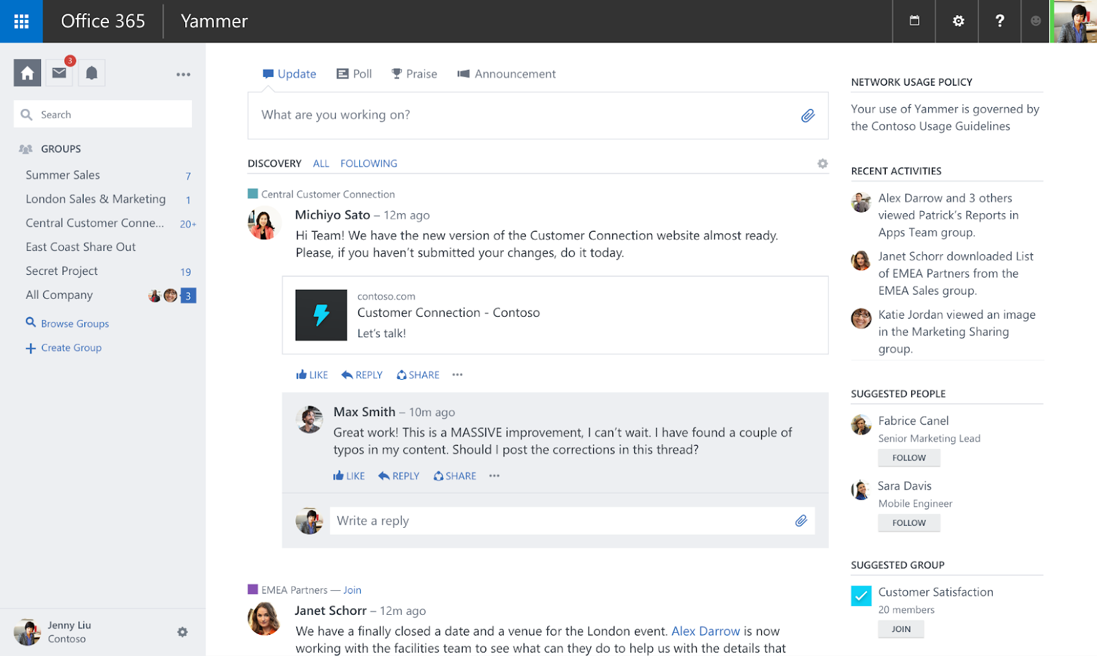 yammer internal communication software