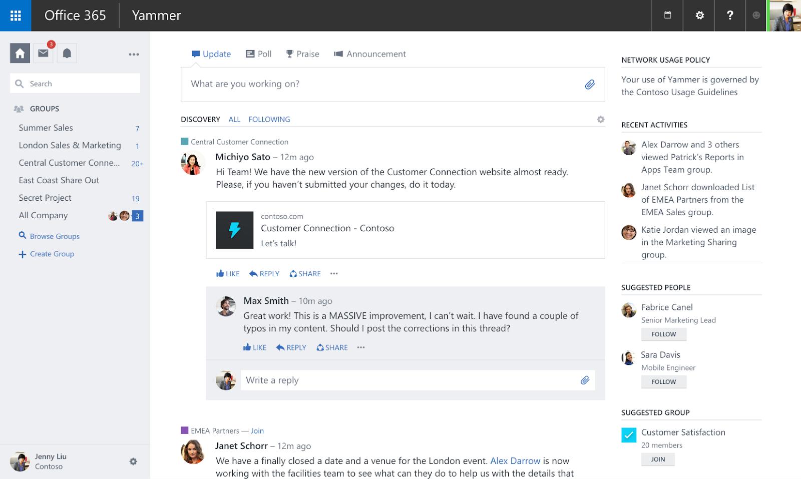 yammer enterprise social network