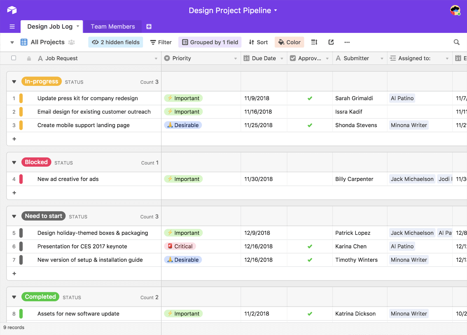 Airtable project management tool