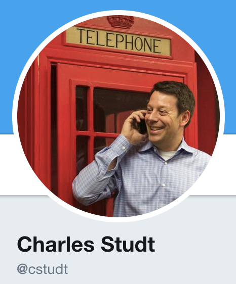 Charles Studt Twitter