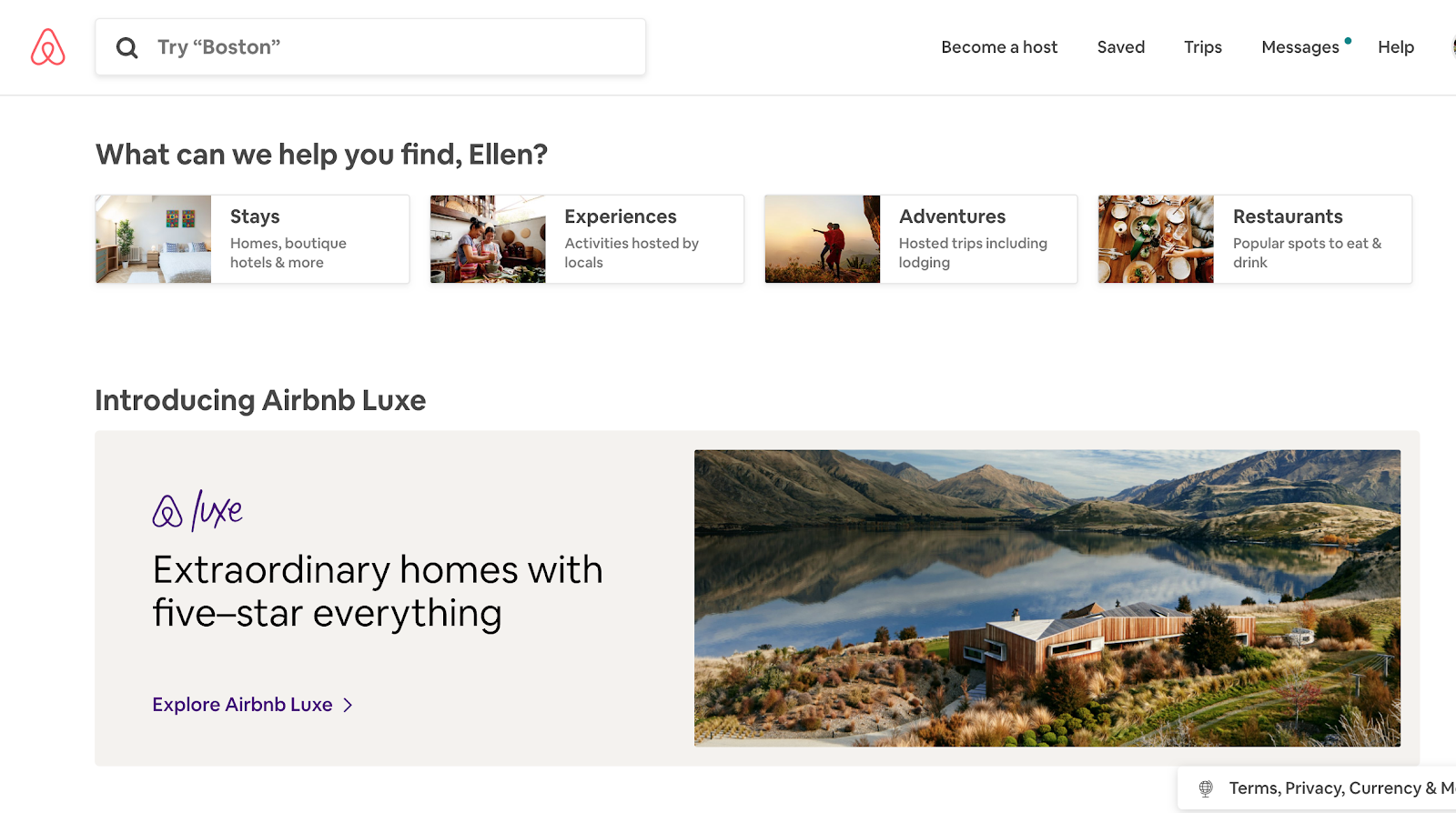 Design thinking examples Airbnb