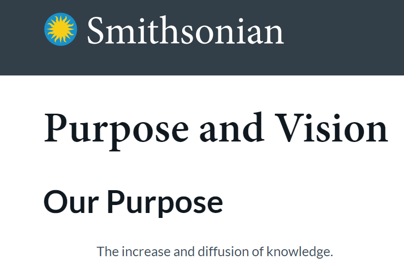 Smithsonian Mission Statement