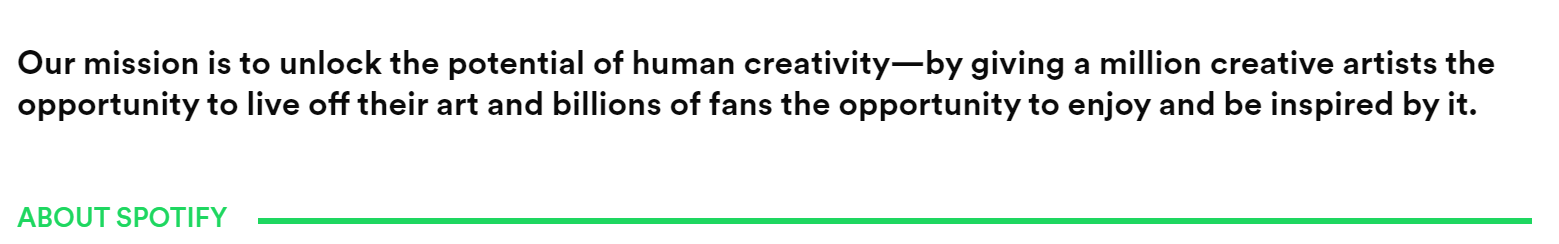 Spotify Mission Statement