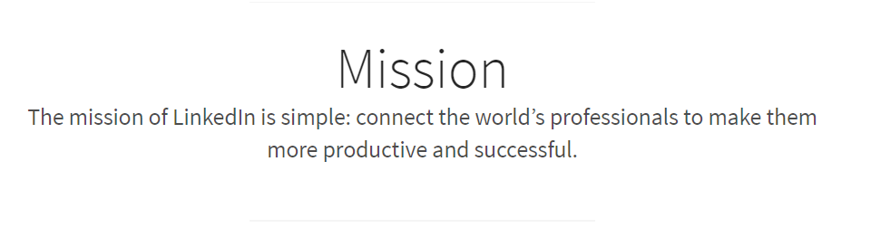 LinkedIn Mission Statement