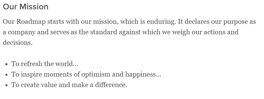 Mission Statement from Mission-Driven Organization
