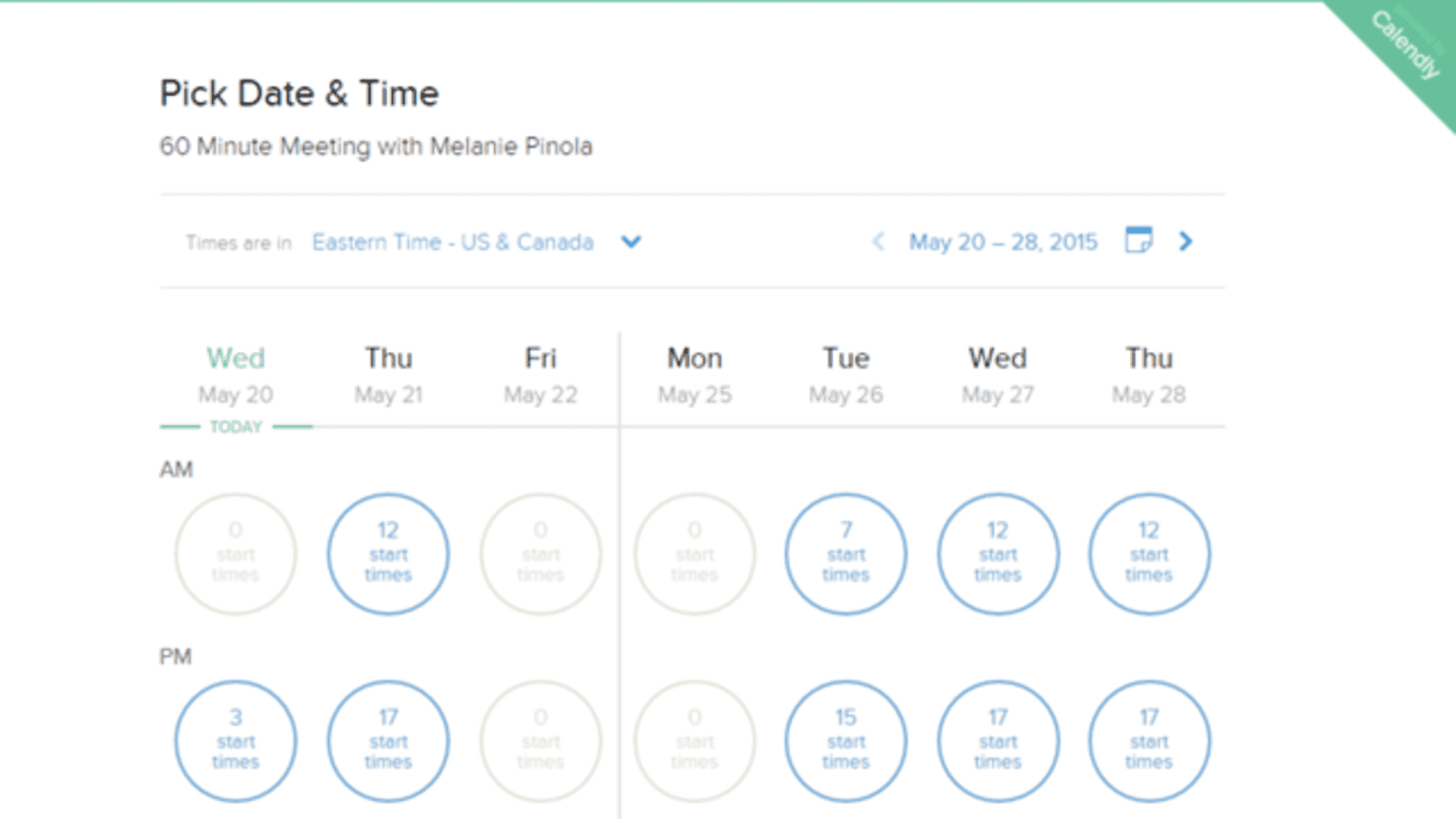 Screenshot of Calendly, a sales productivity tool