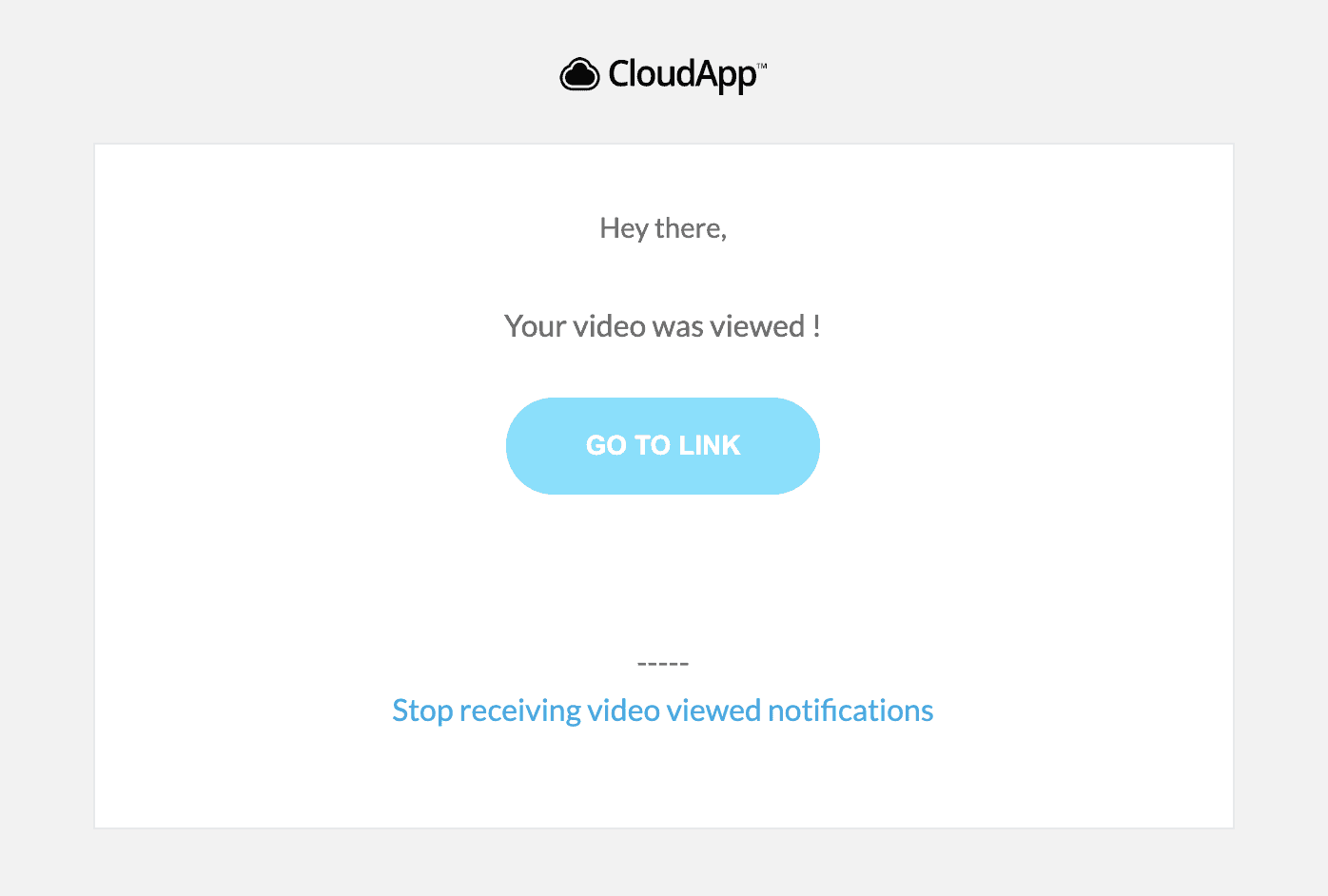 Video View Notifications with CloudApp