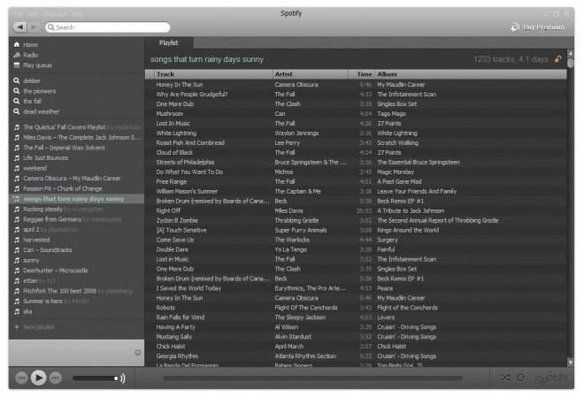 Spotify's early minimum viable product