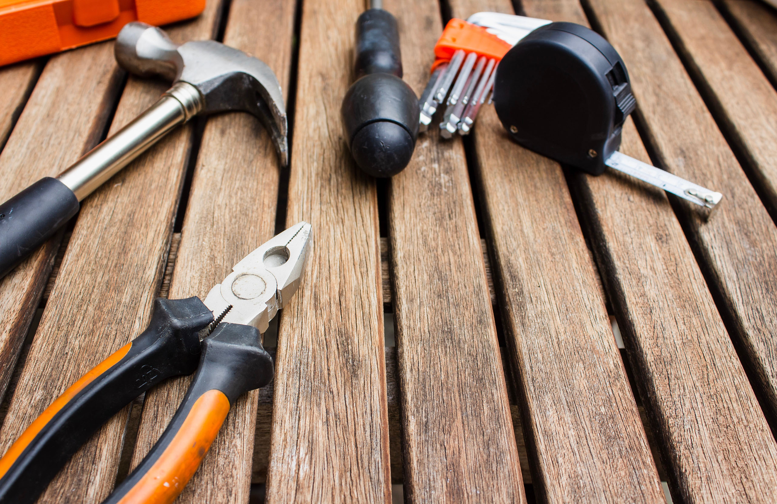 Tools on a deck