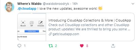 Tweet about CloudApp from @waldobroodryk