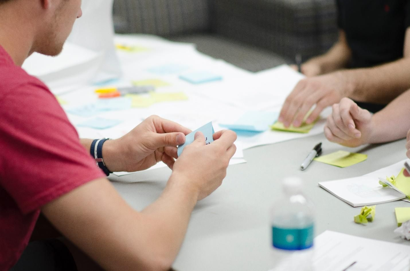 DevOps planning with sticky notes