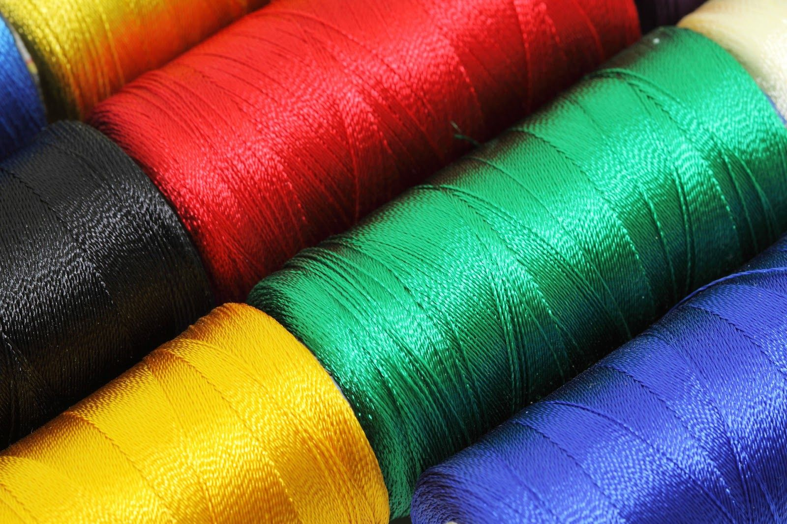 Variety of colored thread