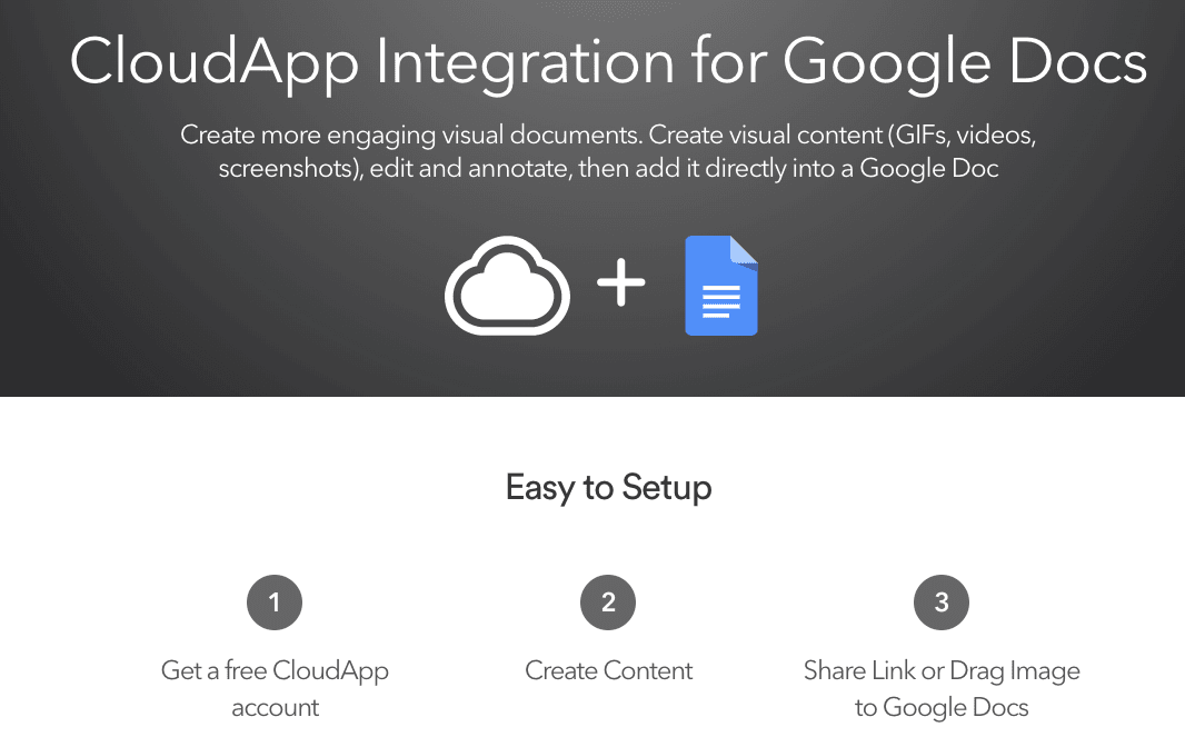 CloudApp Integration for Google Docs