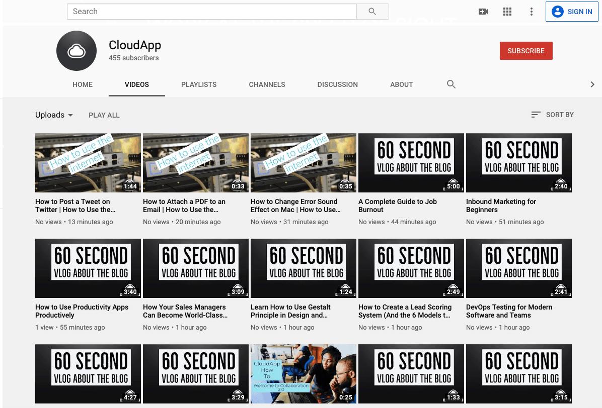 CloudApp Youtube Videos