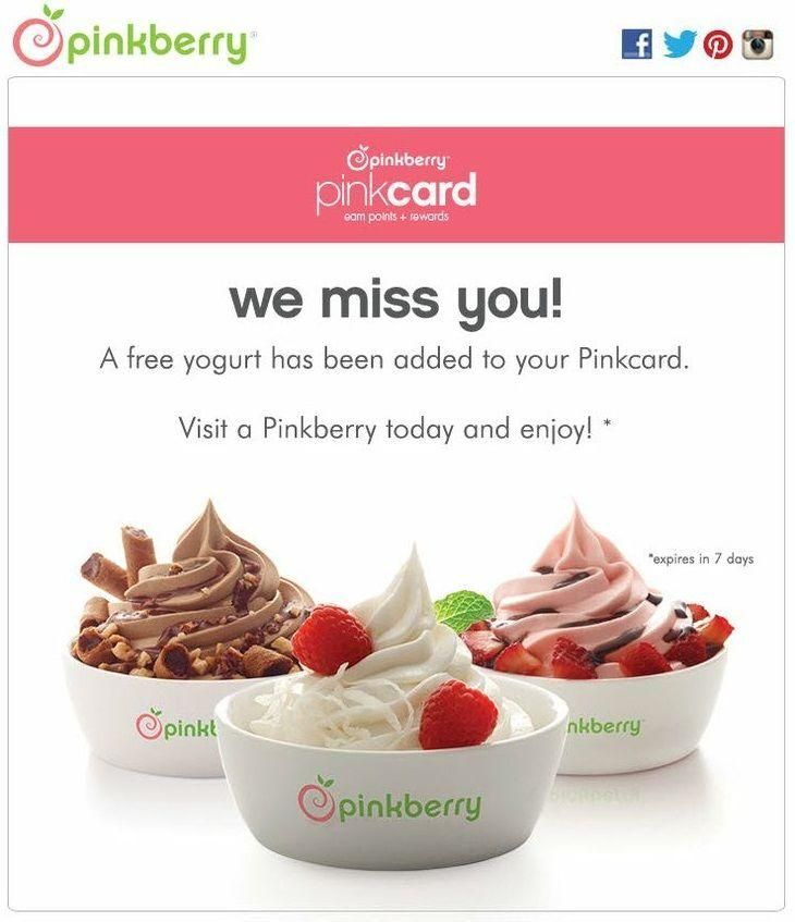 Pinkberry marketing campaign for uninterested customers via Magemail