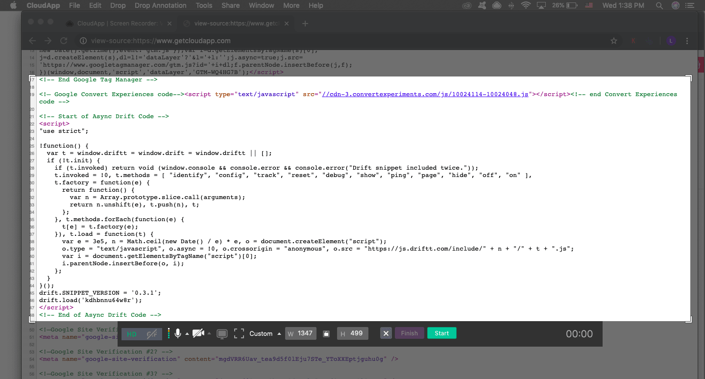 CloudApp screen recording software