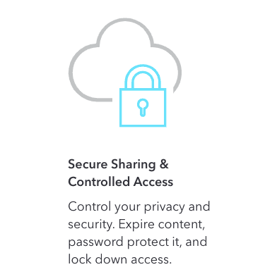 With CloudApp, secure sharing is guaranteed