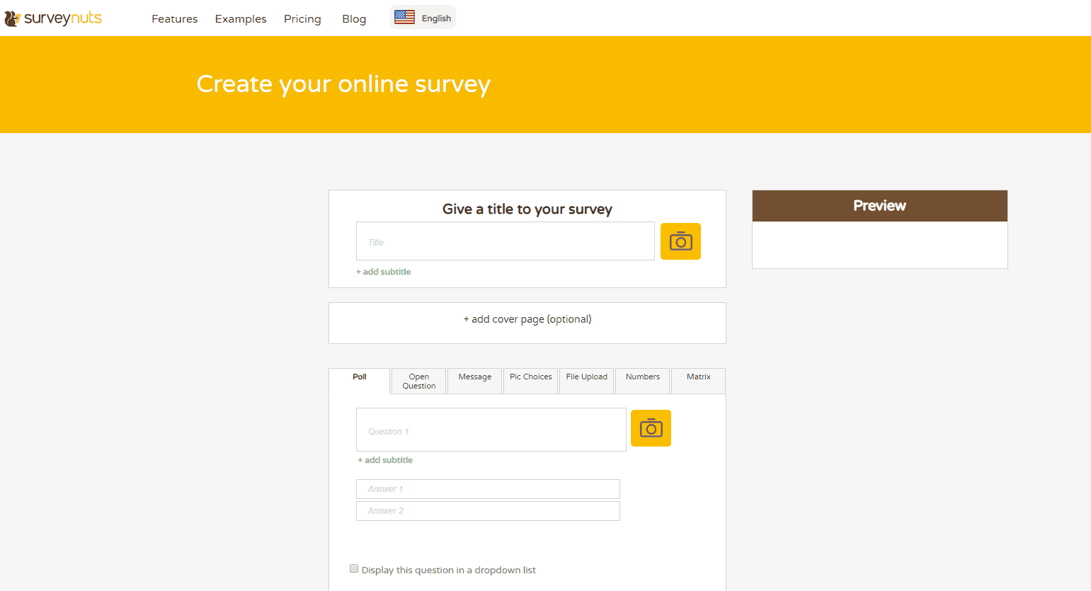 SurveyNuts homepage.