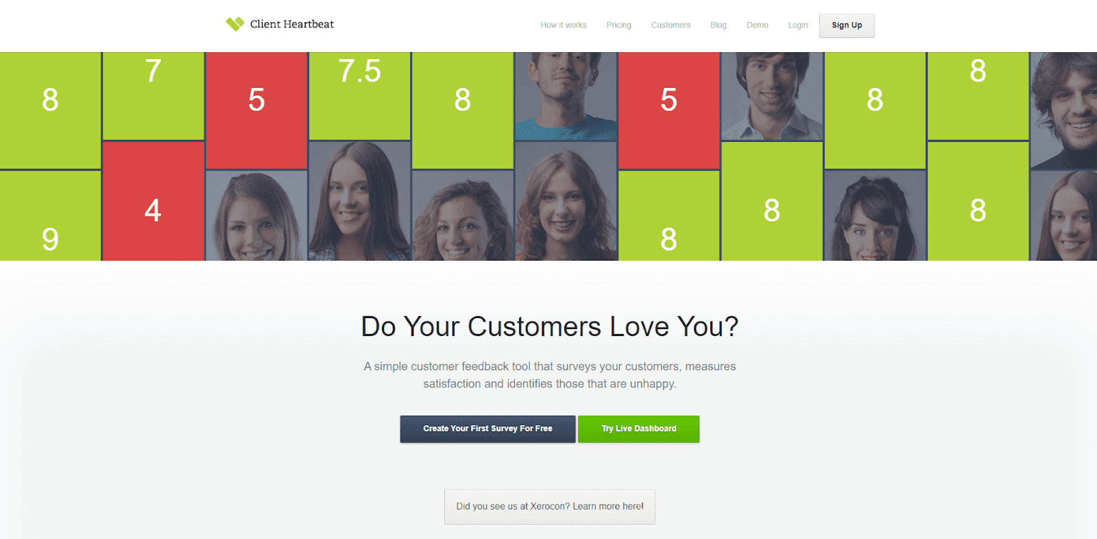 Client Heartbeat homepage.