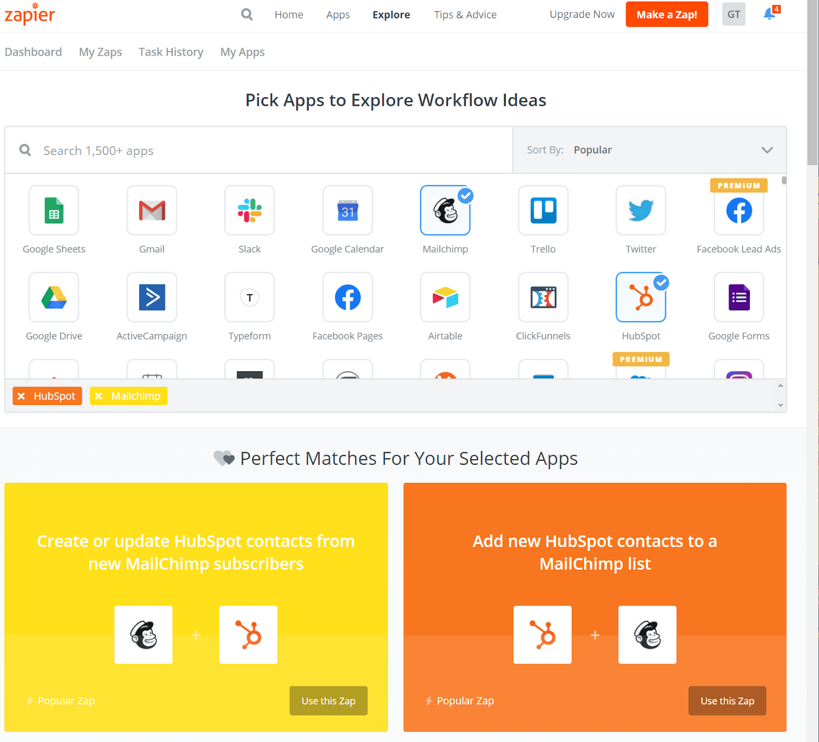 Zapier integration app suggestions