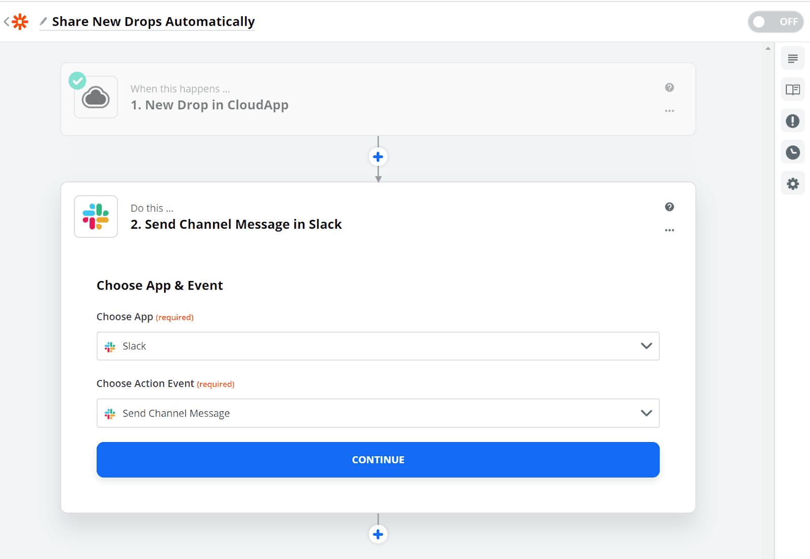 Zapier integration for CloudApp