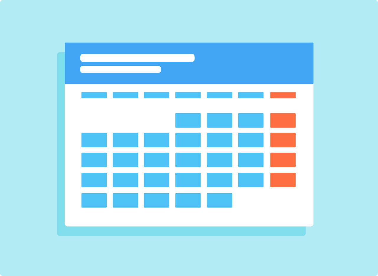 Calendar for implementing a four-day workweek